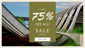 FullHD image template for sales - #banner #businnes #sales #CallToAction #salesbanner #mixed #bridge #metropolitan #fixed #use #link #skyway #corporate #building