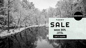 FullHD image template for sales - #banner #businnes #sales #CallToAction #salesbanner #& #ecology #black #woodland #river