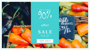 FullHD image template for sales - #banner #businnes #sales #CallToAction #salesbanner #vivid #price #santa #pepper #sign #orange #market #red #yellow