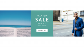 FullHD image template for sales - #banner #businnes #sales #CallToAction #salesbanner #a #gentleman #reading #smiling #corporate #male #jacket #blue