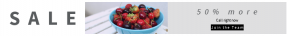 Leaderboard web banner template for sales - #banner #businnes #sales #CallToAction #salesbanner #healthy #freshness #fruit #snack #strawberry #red #table #breakfast #food