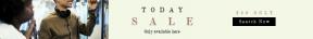 Leaderboard web banner template for sales - #banner #businnes #sales #CallToAction #salesbanner #innovation #cheerful #headphones #portrait #transportation #black #train