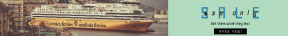 Leaderboard web banner template for sales - #banner #businnes #sales #CallToAction #salesbanner #parked #shore #boat #corsica #sardinia #ship #cruise