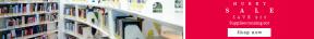 Leaderboard web banner template for sales - #banner #businnes #sales #CallToAction #salesbanner #bookshelf #library #read #bookstore #interior #reading #white #book