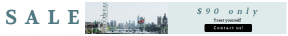 Leaderboard web banner template for sales - #banner #businnes #sales #CallToAction #salesbanner #flag #city #square #control #skyscraper #water #crane #sport #urban