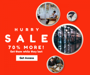Square large web banner template for sales - #banner #businnes #sales #CallToAction #salesbanner #digital #row #african #man #notebook #door