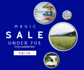 Square large web banner template for sales - #banner #businnes #sales #CallToAction #salesbanner #blue #tropical #road #kruger #marketing #drive #signage #nature #leisure