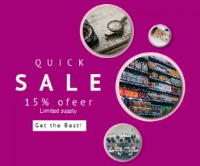 Square large web banner template for sales - #banner #businnes #sales #CallToAction #salesbanner #food #bottle #desktop #desk #technology #social