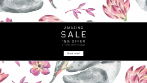 FullHD image template for sales - #banner #businnes #sales #CallToAction #salesbanner #organism #fauna #flora #flower #rabbit #illustration #flowering #design