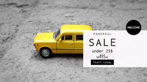 FullHD image template for sales - #banner #businnes #sales #CallToAction #salesbanner #yellow #cab #credit #mini #metal #wheel #miniature #floor #card