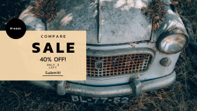 FullHD image template for sales - #banner #businnes #sales #CallToAction #salesbanner #bumper #old #leaf #fiat #vintage #urbex #classic #fender