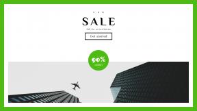 FullHD image template for sales - #banner #businnes #sales #CallToAction #salesbanner #brand #flying #skyscraper #white #urban #sky #airplane