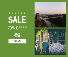 Square large web banner template for sales - #banner #businnes #sales #CallToAction #salesbanner #glitter #sunset #label #shop #river #bridge #music