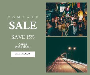 Square large web banner template for sales - #banner #businnes #sales #CallToAction #salesbanner #light #difficult #city #lights #female #street