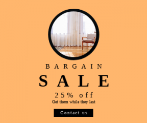 Square large web banner template for sales - #banner #businnes #sales #CallToAction #salesbanner #adding #chair #living #wooden #rug #house #property