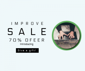 Square large web banner template for sales - #banner #businnes #sales #CallToAction #salesbanner #online #write #computer #typing #working #type #table #keyboard #remote #writing