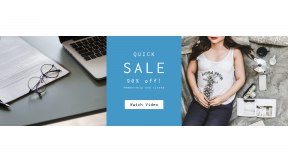 FullHD image template for sales - #banner #businnes #sales #CallToAction #salesbanner #cups #information #book #phone #woman #digital