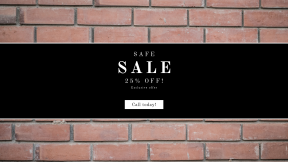 FullHD image template for sales - #banner #businnes #sales #CallToAction #salesbanner #texture #material #brickwork #wall #brick #bricklayer #stone