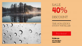 FullHD image template for sales - #banner #businnes #sales #CallToAction #salesbanner #bw #camping #wet #rain #forets #cozy