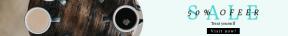 Leaderboard web banner template for sales - #banner #businnes #sales #CallToAction #salesbanner #flatlay #coffee #industry #caffeine #hot #breakfast