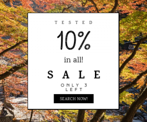 Square large web banner template for sales - #banner #businnes #sales #CallToAction #salesbanner #park #state #nature #autumn #tree #leaf