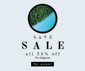 Square large web banner template for sales - #banner #businnes #sales #CallToAction #salesbanner #lake #trees #black #blue #clock