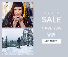 Square large web banner template for sales - #banner #businnes #sales #CallToAction #salesbanner #sky #happy #forest #confetti #college #skiing #national #graduation #woman