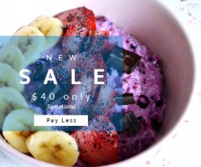 Square large web banner template for sales - #banner #businnes #sales #CallToAction #salesbanner #chocolate #morning #fresh #art #food #sweet #breakfast #fruit #beauty #banana