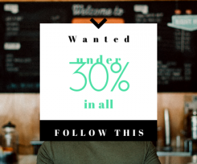 Square large web banner template for sales - #banner #businnes #sales #CallToAction #salesbanner #ordering #person #store #waiting #sports #coffee #backwards #cap #line #hat