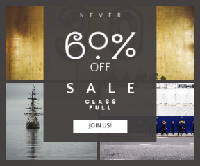 Square large web banner template for sales - #banner #businnes #sales #CallToAction #salesbanner #boat #tres #balloon #skies #travel #transport #suit #color #work #urban