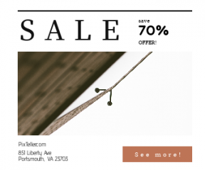 Square large web banner template for sales - #banner #businnes #sales #CallToAction #salesbanner #security #building #material #camera #reflects #wood