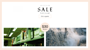 FullHD image template for sales - #banner #businnes #sales #CallToAction #salesbanner #alp #clouds #green #reading #book #mountain