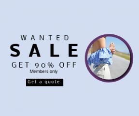 Square large web banner template for sales - #banner #businnes #sales #CallToAction #salesbanner #girl #shoulder #portrait #blue #top #off #shouldertop #road