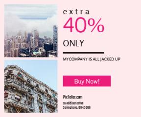 Square large web banner template for sales - #banner #businnes #sales #CallToAction #salesbanner #plaza #tours #skyline #architecture #blue #SKYSCRAPERS #fog #concrete #apartment #cloud
