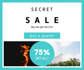 Square large web banner template for sales - #banner #businnes #sales #CallToAction #salesbanner #orange #squares #hotel #bay #tree #texture #marina #building #shape #phone