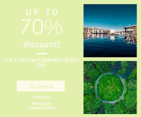 Square large web banner template for sales - #banner #businnes #sales #CallToAction #salesbanner #woman #water #forest #waterway #swimming