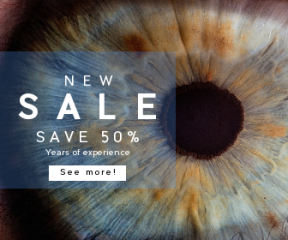 Square large web banner template for sales - #banner #businnes #sales #CallToAction #salesbanner #photography #cornea #experience #pill #pupil #medic