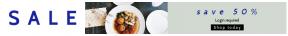Leaderboard web banner template for sales - #banner #businnes #sales #CallToAction #salesbanner #food #spritz #woman #aperol #business #flatlay #brunch #restaurant #seafood