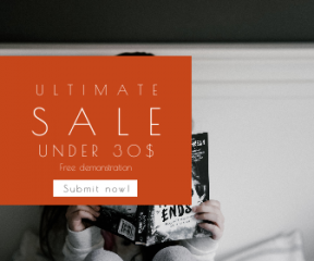 Square large web banner template for sales - #banner #businnes #sales #CallToAction #salesbanner #hold #child #story #gray #world #book #pyjama #reading