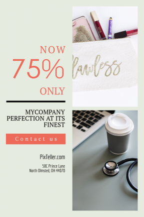 Portrait design template for sales - #banner #businnes #sales #CallToAction #salesbanner #box #white #make #cup #object #multimedia #stethoscope #bag #medicine #bathroom