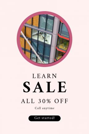 Portrait design template for sales - #banner #businnes #sales #CallToAction #salesbanner #bed #circles #symbol #architecture #modern #office #building