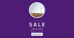 Card design template for sales - #banner #businnes #sales #CallToAction #salesbanner #environment #fields #golden #development #renewable #farm #electric #grassland