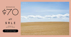 Card design template for sales - #banner #businnes #sales #CallToAction #salesbanner #circular #wheat #prairie #circles #landscape #scene #wholegrain #sky