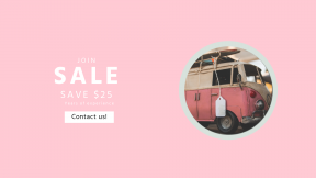 FullHD image template for sales - #banner #businnes #sales #CallToAction #salesbanner #pink #vw #woman #camper #toy #van #vintage #vehicle #automotive