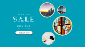 FullHD image template for sales - #banner #businnes #sales #CallToAction #salesbanner #mosaic #colorful #restaurant #glass #frown #dog #card #californium #add #city