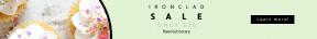 Leaderboard web banner template for sales - #banner #businnes #sales #CallToAction #salesbanner #food #baking #sprink #cupcake #unicorn #wooden