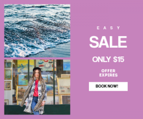 Square large web banner template for sales - #banner #businnes #sales #CallToAction #salesbanner #greece #gallery #woman #spring #window #street #scarf #brunette