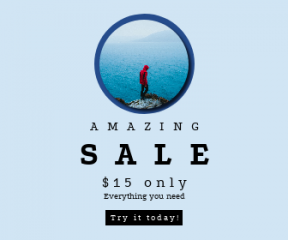 Square large web banner template for sales - #banner #businnes #sales #CallToAction #salesbanner #place #motivation #sea #coastal #blue #foggy #person #man #travel #view