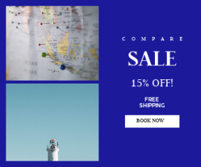 Square large web banner template for sales - #banner #businnes #sales #CallToAction #salesbanner #sky #shipping #fall #map #forest
