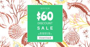 Card design template for sales - #banner #businnes #sales #CallToAction #salesbanner #flowering #leaf #plant #pattern #petal #flora #line